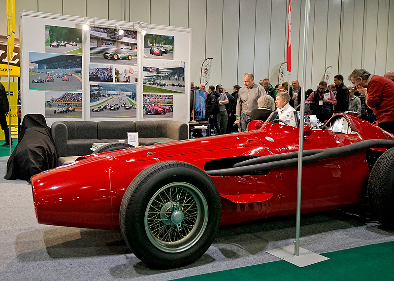 Maserati 250F on the Historic Grand Prix Cars Association stand