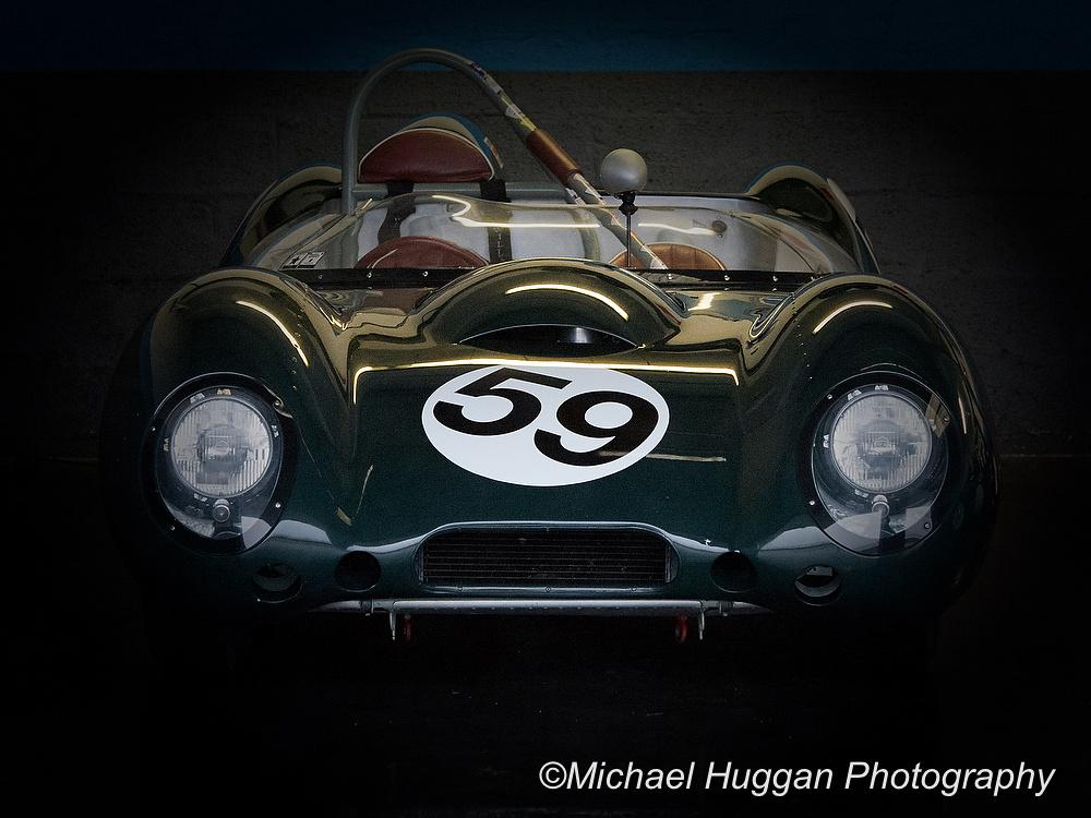 The beautiful 1958 Lotus 15 in the garage at Circuit de Croix en Ternois, France. Photo: Michael Huggan