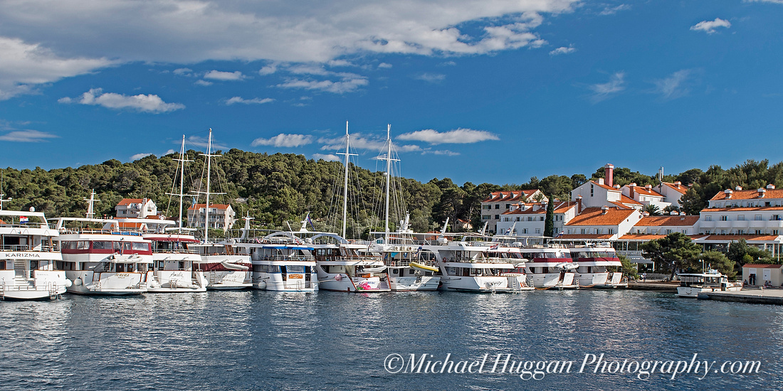 Line abreast at Pomona Harbour, Mljet