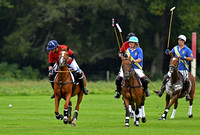 Sarah Morton of New Forest Polo Club team chases the ball