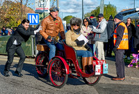 Participants  at Crawley set off on the London to Brighton Veteran Car Run