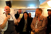 Tom Kerridge, Kevin Clifton and Olly Smith at The Mulberry Inn, Chiddingfold