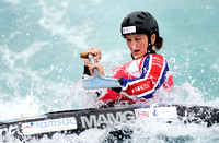Mallory Franklin at the Canoe Slalom Word Cup