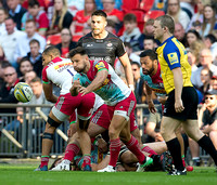 Danny Care of Harlequins passes the ball