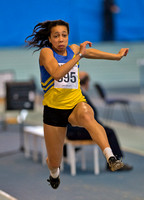 Women's under 20's Long Jump at Lee Valley
