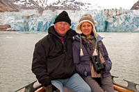 Michael, and Julia with the Dawes Glacier