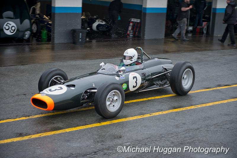 Peter Mullen in his BRM P261 at Circuit de Croix en Terns, France. Photo: Michael Huggan