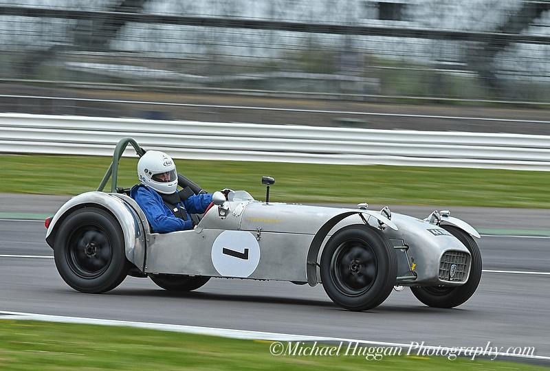 Robert Barrie driving the Lotus 7