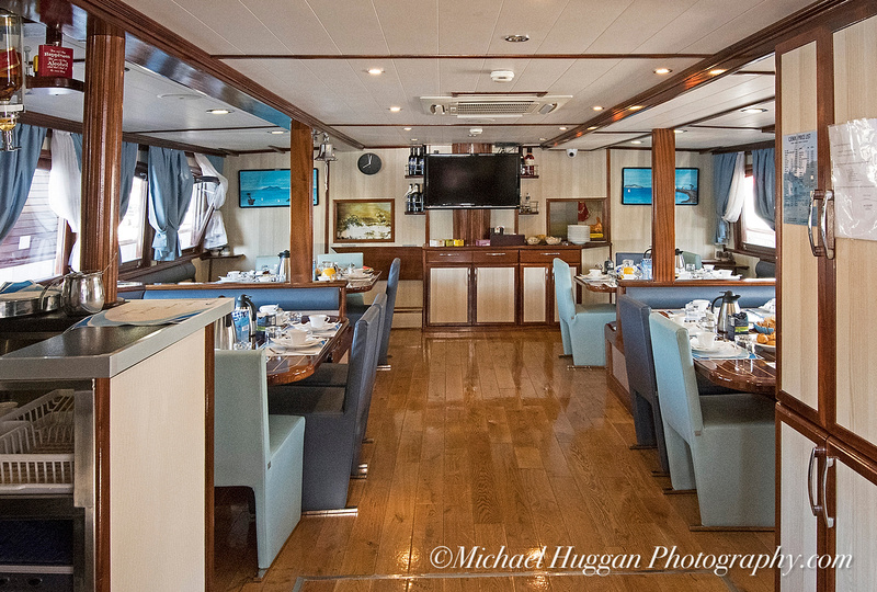 The dining area onboard MS Medula