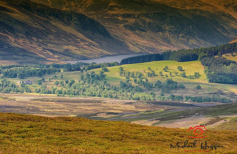View over Heathlands near Glen Esk