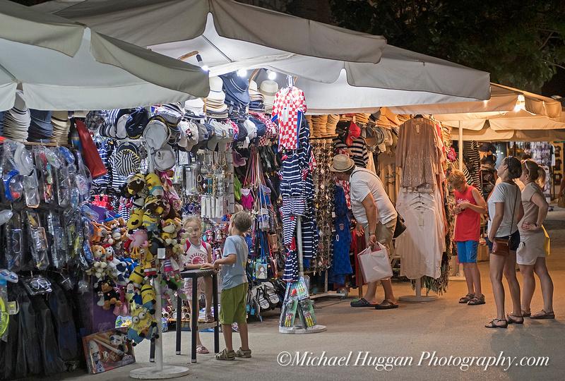 Late night shopping in Korcula