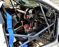 Drivers cage in a Golf GTI at the APR Volkswagen Racing Cup