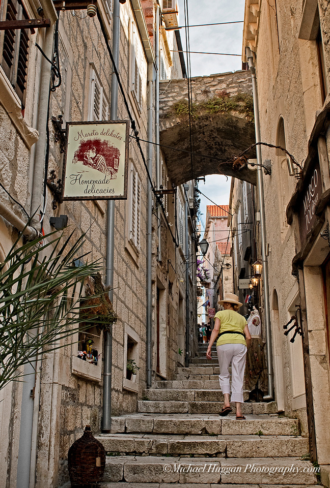 One of the many passageways in Korcula