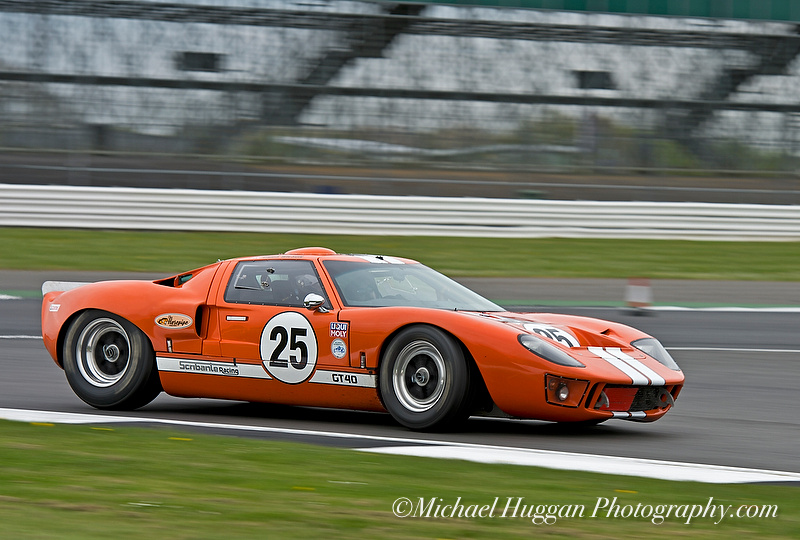 Steve Hart in the GT 40 at HGPCA