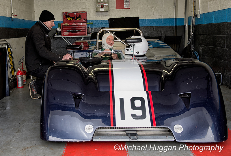 Peter Mullen in the Chevron B19 at Circuit de Croix en Ternois, France. Photo: Michael Huggan