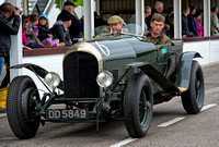 Ewan Getley in the 1924 Bentley 3.4 1/2L iwith guest Benjafield's Sprint