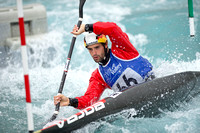 Hannes Aigner of Germany at the Canoe Slalom